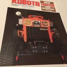 KUBOTA Diesel Tractor B7100HST Original 1984 Vintage Sales Brochure