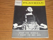 Playbill Stop The World I Want To Get Off 1963