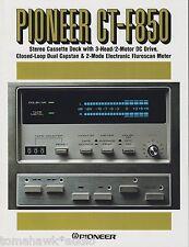 Pioneer CT-F850 Original Stereo Cassette Deck Brochure 1979