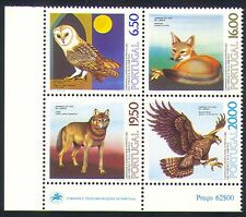 Portugal 1980 Birds/Animals/Nature/Owl/Eagle/Fox/Wolf/Wildife  4v set (n29796)