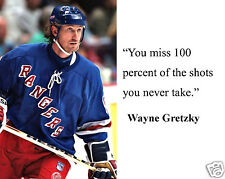 Wayne Gretzky NHL New York Rangers Quote 8 x 10 Photo Picture