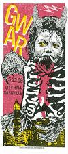 Gwar 2008 Rare Silkscreen Gig Poster S/N By Artist Nashville Gig