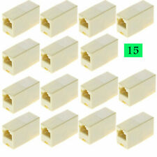 15PCS RJ45 Female to Female Network Ethernet Lan Cable Joiner Connector new AU