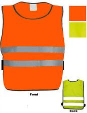 Child Football Bib Apron Reflective Viz Sport Vest Orange Yellow Kid Tabard NEW