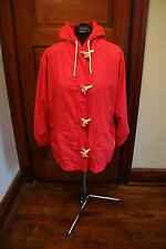Women's Red Talbots Spring Toggle Jacket Size M