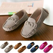 Kids Boys Girls Toddler Slip On Oxford Suede Flat Loafers Casual Boat Shoe Size