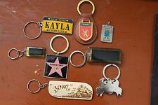 Lot of 8 key chains with names