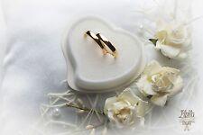 ANELLO Nuziale cuscino, di fidanzamento CUSTODIA,P2,Avorio,Cuscino Anne