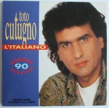 """TOTO CUTUGNO - RARE CD SINGLE PROMO """"L'ITALIANO 90"""" + EUROVISION INSTRUMENTAL"""