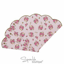 Pink Floral Paper Napkins with Scalloped Edge -Vintage Tea Party - RANGE IN SHOP