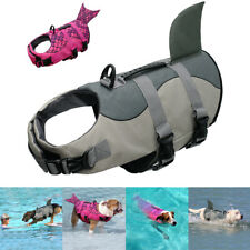 Dog Life Jacket Buoyancy Aid Small Large Breed Shark/Fin Swimming & Boating Vest
