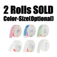 2x etichette adesive per etichette per stampante termica Niimbot D11 Pure Color