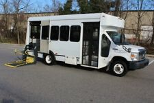 2009 FORD E450 NON CDL WHEELCHAIR SHUTTLE BUS LOW MILES NO RESERVE AUCTION