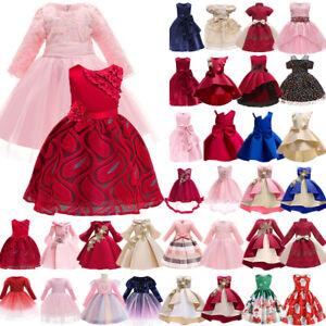 Kids Girls Evening Party Princess Tutu Dress Formal Ball Gown Bridesmaid Dresses