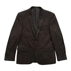 NEXT Tailoring Mens Brown Wool Blend Slim Fit Two Button Blazer Jacket Size 42 R