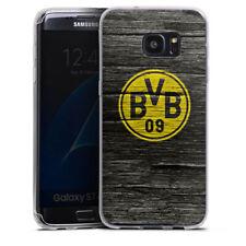 Samsung Galaxy S7 Edge Silikon Hülle Case - BVB Holzoptik