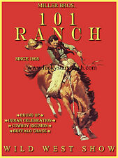 101 Wild West Cowboy Vintage Rodeo Poster