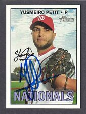 2016 HERITAGE #584 Yusmeiro Petit WASHINGTON NATIONALS SIGNED AUTOGRAPH AUTO COA