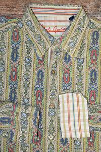 WOW Robert Graham XL Paisley Multicolored Long Sleeve Shirt Flip Cuff EUC B28