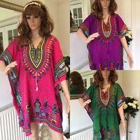 New Ladies free size loose hippy boho kimono sleeve  Kaftan top tunic blouse