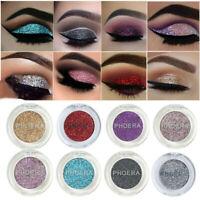PHOERA 12 Colors Shimmer Glitter Eye Shadow Powder Pigment Eyeshadow Cosmetic