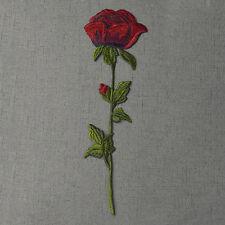 1stk Rosen Rotes Aufbügler Bügelbilder Bestickt Patch Bügelflicken Aufnäherbild