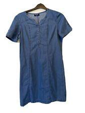 Captain Corsaire Size 14 Cotton Blue Denim Style Dress Tunic Summer Holiday