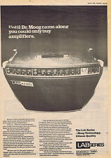 LAB SERIES - MOOG / GIBSON large press clipping 1978  (27/5/78) 30X40cm