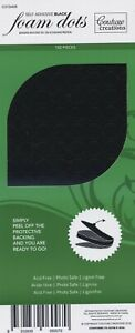 Couture Creations Adhesive 3D Foam Dots Black  150pc