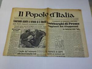 IL POPOLO D' ITALIA 2 APRILE 1942 BENITO MUSSOLINI GIORNALE D' EPOCA WW2