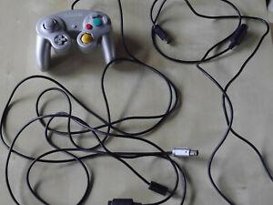 Original Nintendo Gamecube Controller grau mit Kabel / Adapter