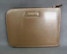 Superb designer J & M Davidson beige brown leather Clutch Bag Tablet Holder Case