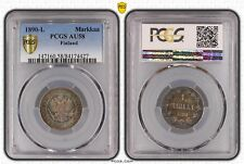 finland 1890 L markka pcgs secure au58 beautiful toning only 4 graded by pcgs