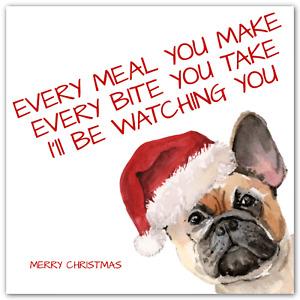 CHRISTMAS Frenchie Bulldog Card Funny French Bull Dog Song Lyrics
