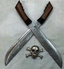 Custom Handmade Knife King's Damascus Filipino Machete Swords