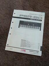 Yamaha Portatone Keyboard PSR-80 Service Manual Schematics Parts List Factory