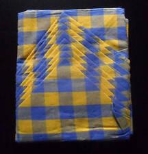 Nappe ronde 8 serviettes madras bleu orange Round tablecloth 8 towels orange