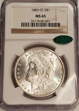 1883-CC CARSON CITY MORGAN SILVER DOLLAR NGC MS 65, CAC APPROVED