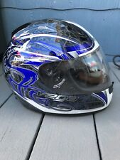 VEGA  ALTURA HELMET, BLUE GRAY AND WHITE SIZE XXLarge DOT APPROVED