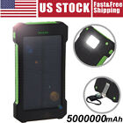 2021 NEW 5000000mAh Waterproof Solar Power Bank Battery Charger for Cell Phone