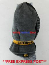 CAT Caterpillar  Original Blue Striped Knit Beanie Cap and Socks Bundle