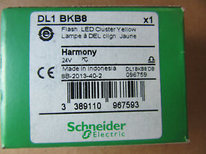 Schneider Harmony DL1 BKB8 Flash LED Cluster Yellow Lamp NEW!!! in Factory Box