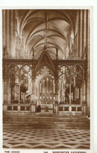Worcestershire Postcard - Cathedral - The Choir - Real Photograph - Ref TZ7686