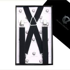 Boy's Braces Black X2.5cm Boys Suspenders Kids