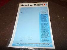 1970 1971 AMC AMX JAVELIN RAMBLER HORNET PACER REBEL BLANK WINDOW STICKER NEW