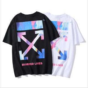 off white T-shirt a maniche corte allentata pullover di nuova concezione