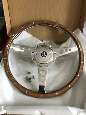 triumph Spitfire Woodrim Classic Steering Wheel 14 In Flat +Boss And Horn Centre