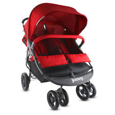 Joovy ScooterX2 Side-by-Side Lightweight Double Jogging Canopy Stroller, Red