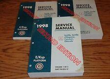 1998 Cadillac DeVille Concours Eldorado Shop Service Manual Vol 1 2 3 Set 98