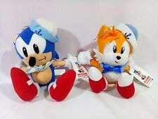 Vintage Set SONIC The Hedgehog & TAILS Sailor Plush Doll SEGA 1994 Prize JAPAN